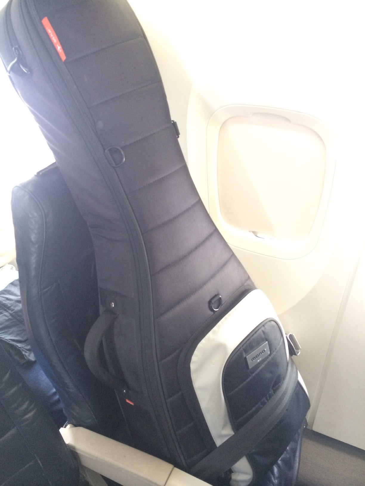 Guitar in Airline Seat